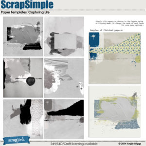ScrapSimple Paper Templates Capturing Life