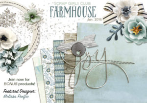 Scrap Girls Club - Farmhouse Intro Banner