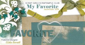 ScrapSimple Club - My Favorite Intro Banner