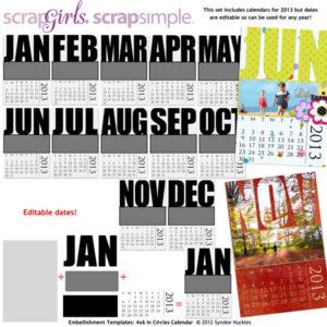 4x6 Bold Calendars