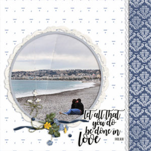 This digital scrapbooking page was made with products from the ScrapSimple Club