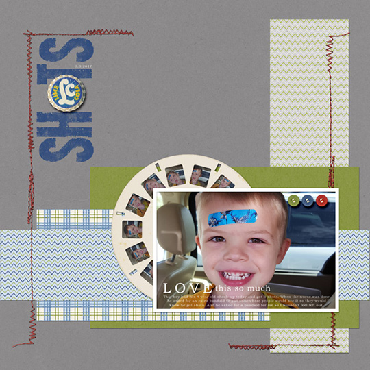 A digital scrapbooking layout using embellishments from the Effortless collection