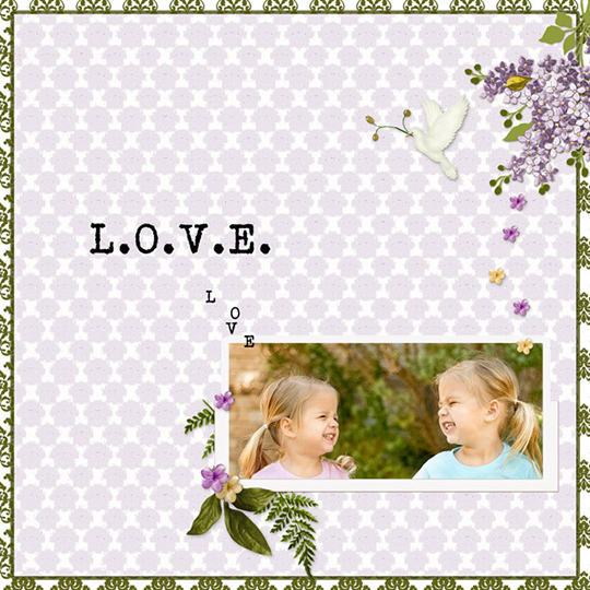 digital page featuring Just a Little Love ScrapSimple Club