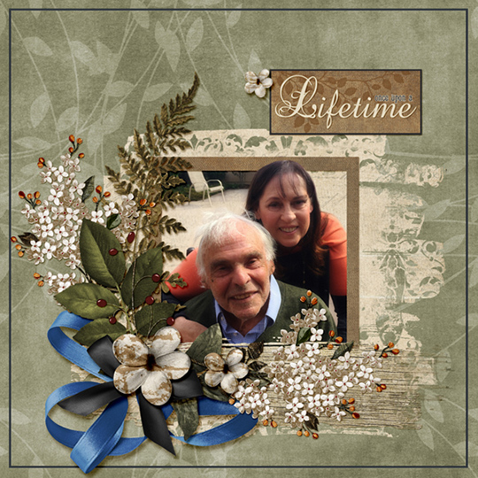 a digital scrapbooking layout using Just a Little Love ScrapSimple Club
