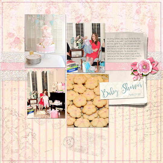 A scrapbook layout made entirely from one designer's collection