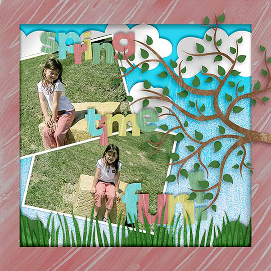 Scrapbook page using March 2017 SS Club