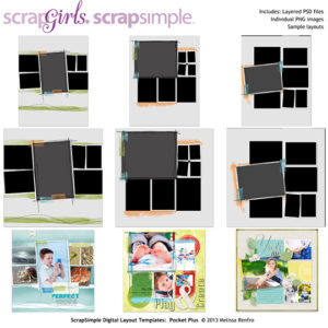 ScrapSimple Digital Layout Templates: Pocket Plus