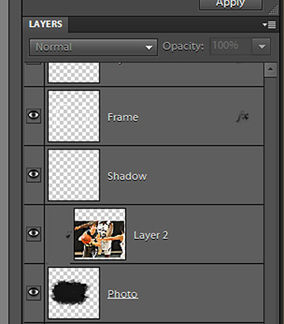 layers panel showing clipped photo
