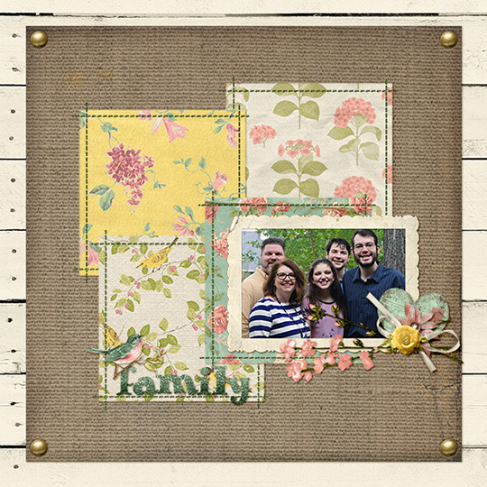 Layout using Rosehill Cottage digital products