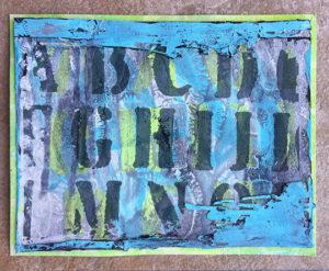 Hybrid card using Art Journal ScrapSimple Club