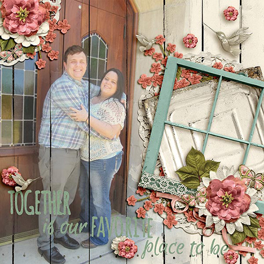 digital scrapbook layout using Rosehill Cottage Club