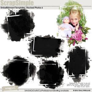 ScrapSimple Embellishment Templates: Stacked Photos Vol. 6