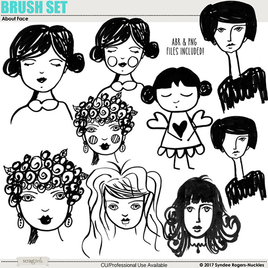 About Face Digital Brushes clipart