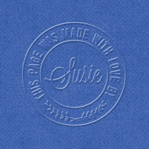 embossed freebie with style applied