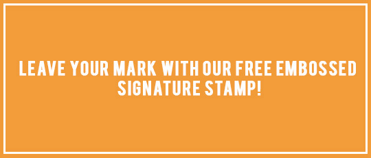 Leave Your Mark with Our Free Embossed Signature Stamp!