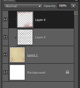 Layers of blended paper