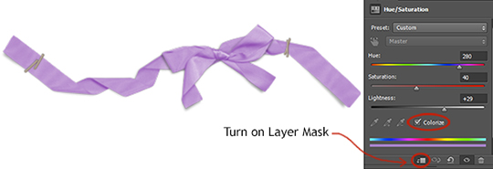 turn on layer mask