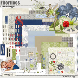 Effortless digital scrapbooking kit