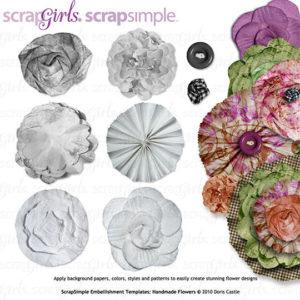 ScrapSimple Embellishment Templates Handmade Flowe