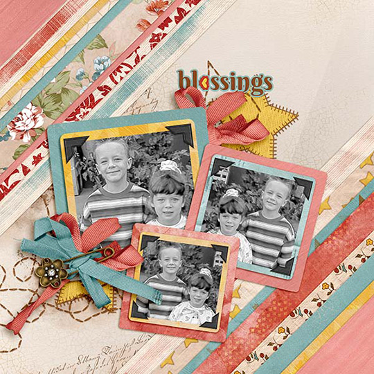 Scrapbook layout using SG Club Harmony