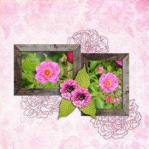 Scrapbook Layout using Beautiful Blooms SS Club