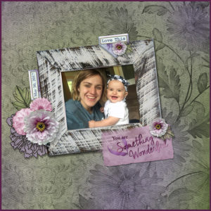Layout using Beautiful Blooms June 17 Club