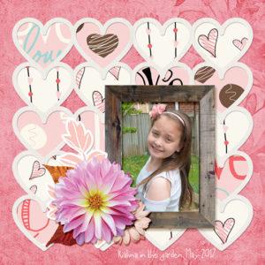 Scrapbook page using June 2017 Beautiful Blooms Club
