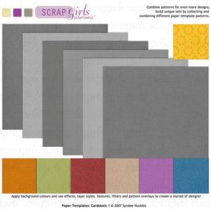 ScrapSimple Paper templates Cardstock