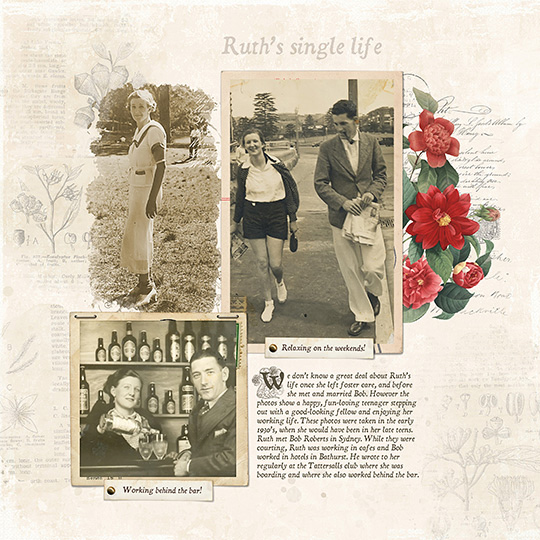 Drop Cap digital scrapbook layout