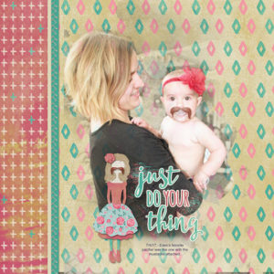 Scrapbook page using products from ScrapSimple Club Pep Talk