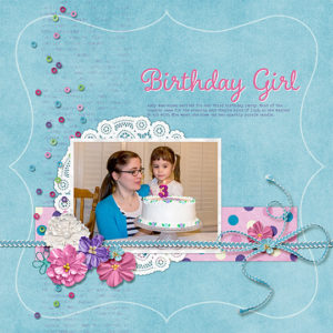 scrapbook page using lasso tool