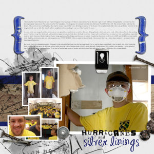 color replacement scrapbook layout