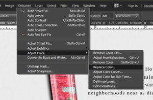 color replacement menu