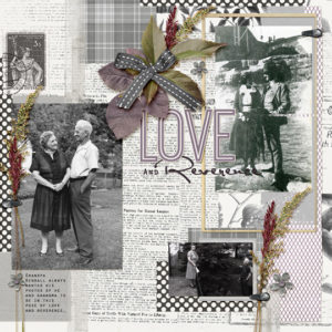 scrapbook page using Sept 2017 club