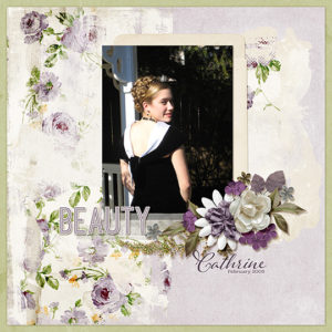 scrapbook layout using Perfection club