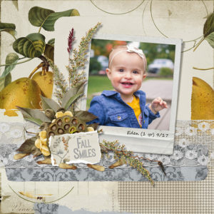 scrapbook layout using Sept 2017 club