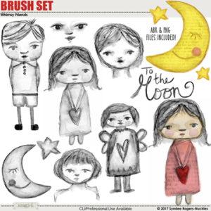 Whimsy Friends Digital Brush Set