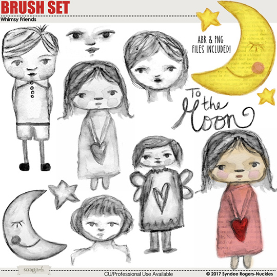 Whimsy Friends Digital Brush Set
