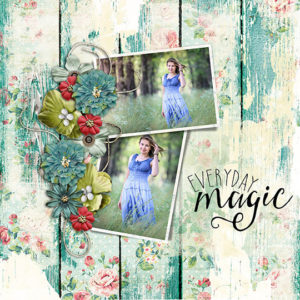 Scrapbook page using Everyday Stories products