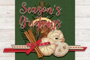 Christmas cookie card