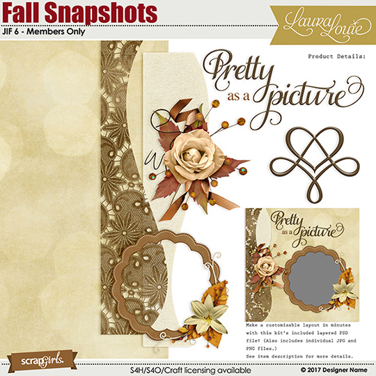 Fall Snapshots Bonus kit
