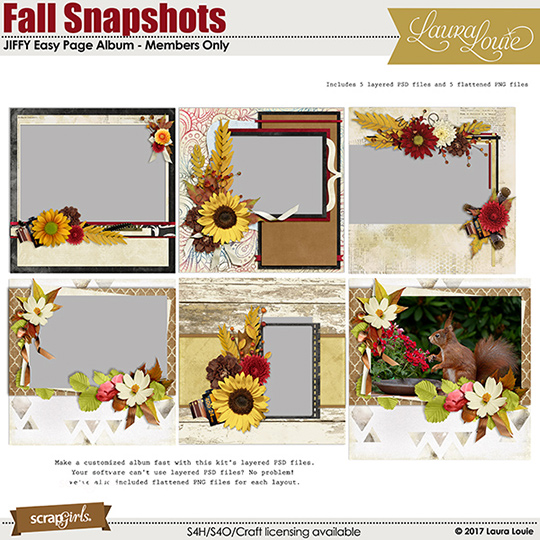 Fall Snapshots Club Bonus