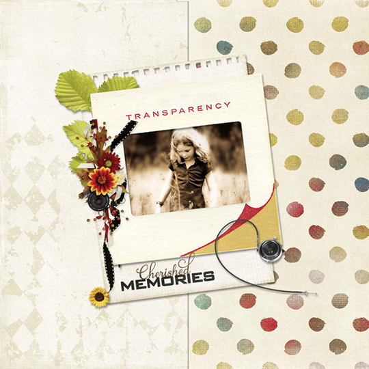 Scrapbook layout using Fall Snapshots Nov 2017 Club
