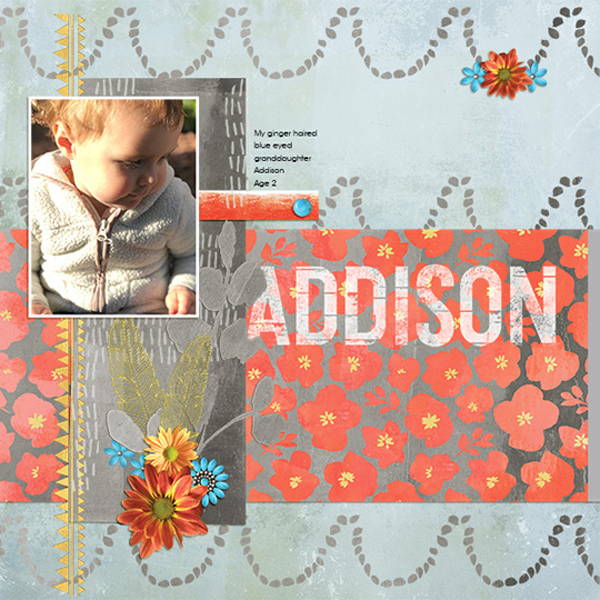 scrapboook layout using October 2017 ScrapSimple club