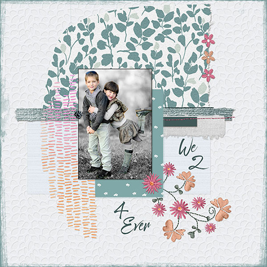 scrapboook page using October 2017 Simply Handmade SS Club