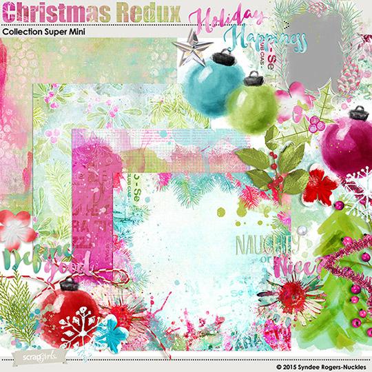 Christmas Redux artsy digital kit