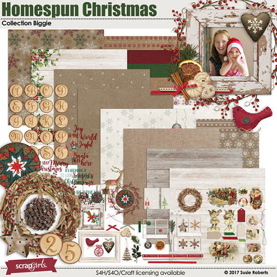 Homespun Christmas Digital Kit