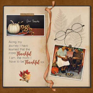 Gratitude SS Club Nov 2017 scrapbook page