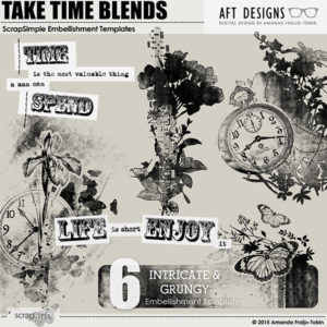 ScrapSimle Embellishment Templates: Take Time Blends