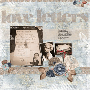 Scrapbook page using Simply Vintage Dec 2018 SS Club